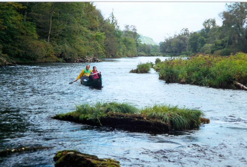 canoeing in the east branch of the delaware