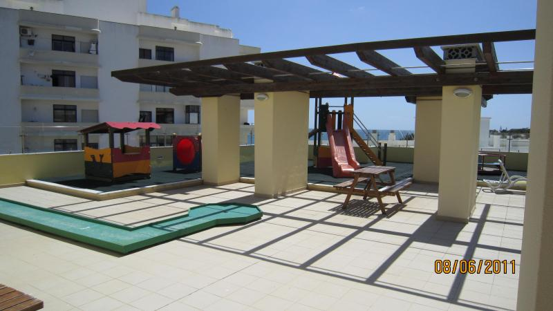 Children's play area on roof