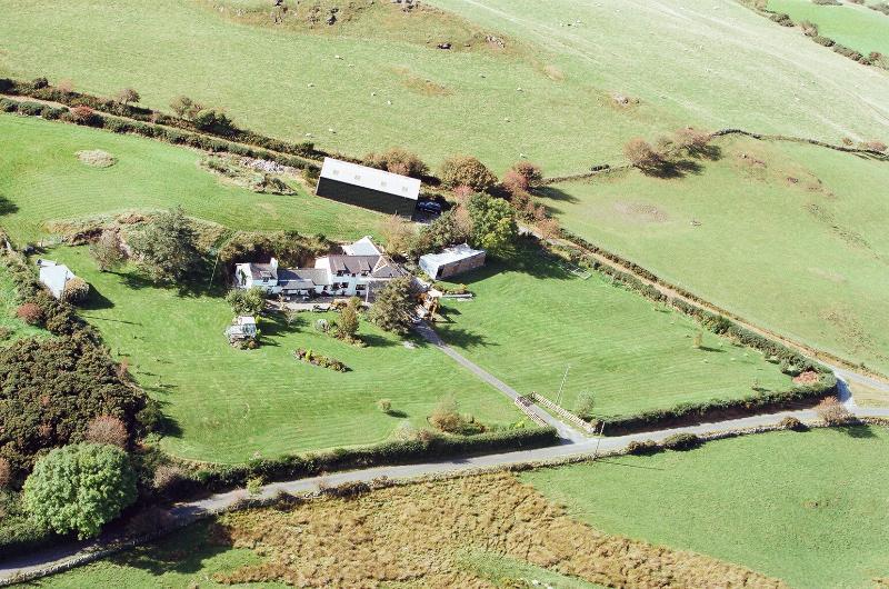 Arial view of Bryn Ffynnon