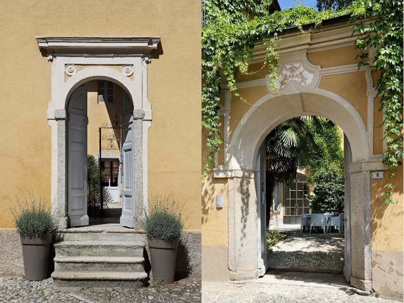 Entrada principal y entrada trasera