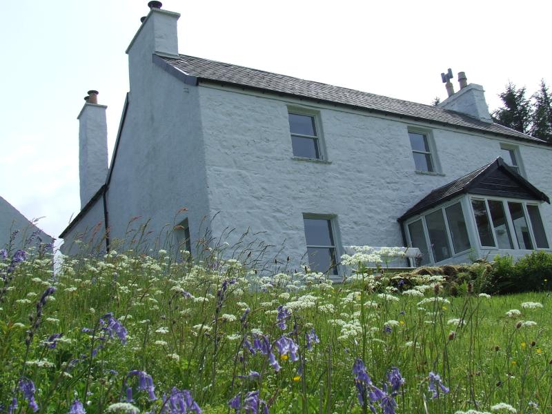 An exterior shot of Beach House Self Catering on the Isle of Mull.
