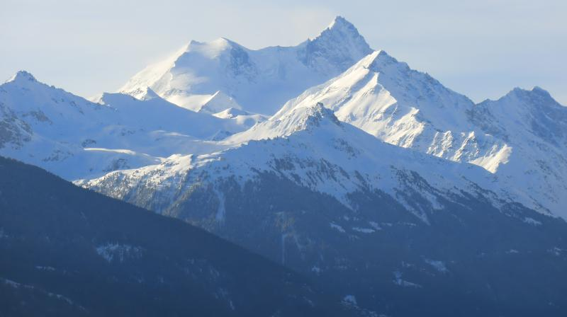 The Weisshorn photographed from the balcony