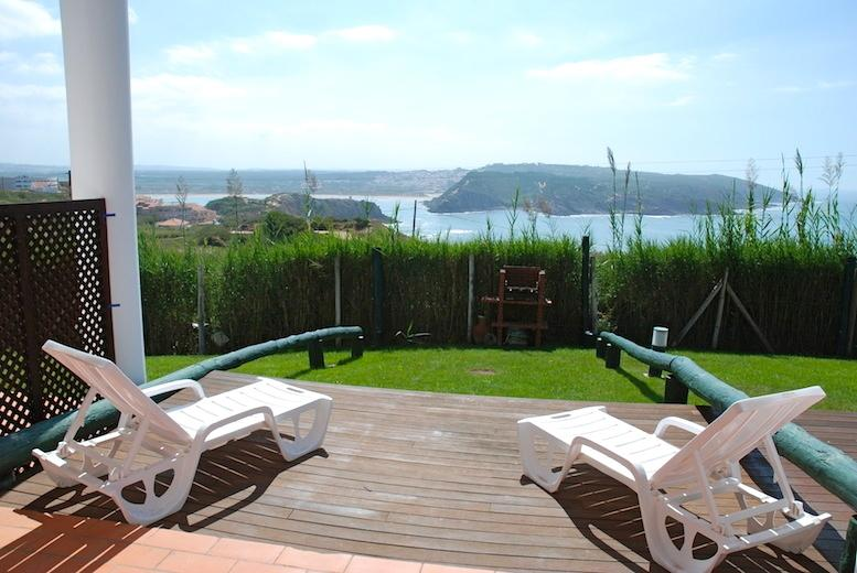 View over Atlantic and bay of Sao Martinho from apartment