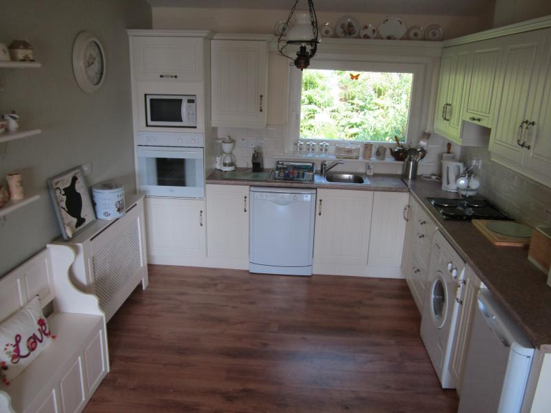 The spacious well equipped kitchen