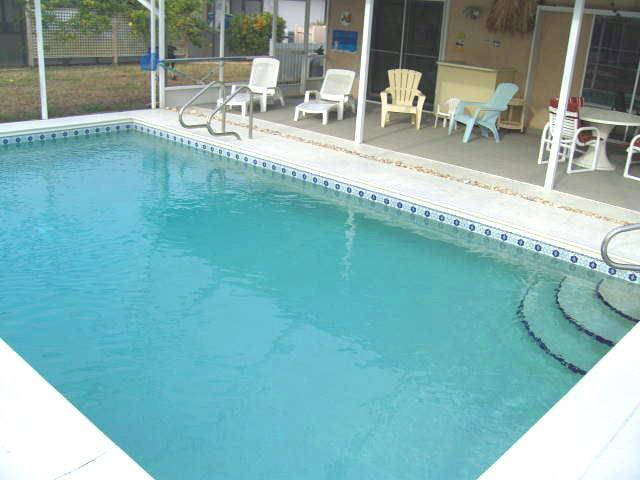 Private caged and heated pool