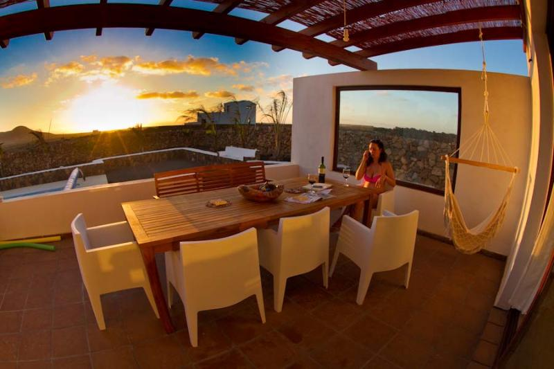 Perfect sunset outdoor dining