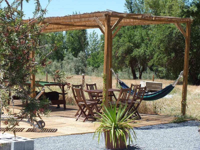 Have lunch in the shade then sleep it off in the hammocks!