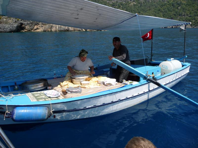 Buy a pancake when you hire a speedboat for the day..delicious!