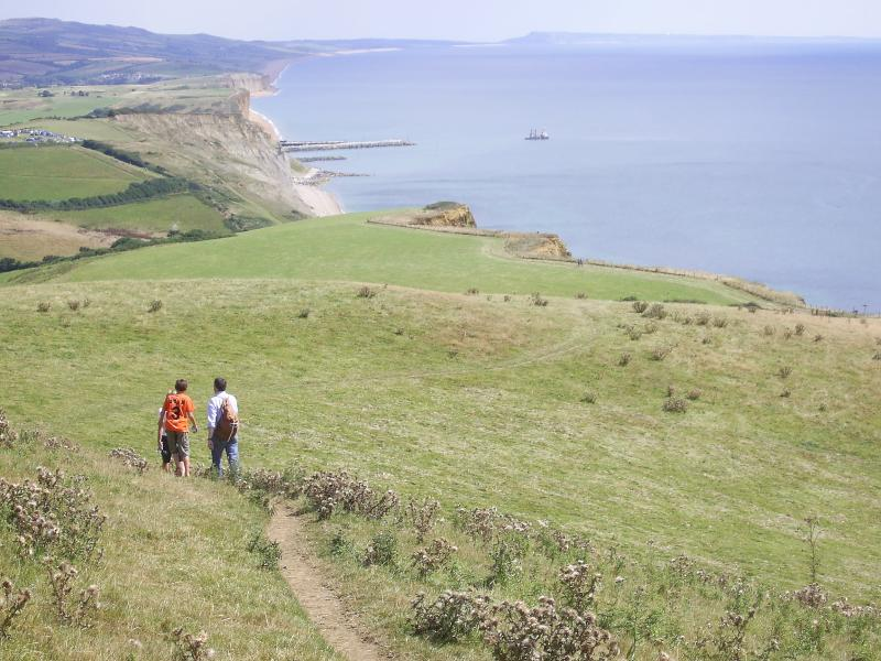 Breathtaking scenery along Dorsets many cliff paths.