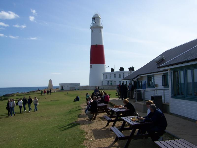 The isle of Portland famous lighthouse, can be seen from Paradise Villa.