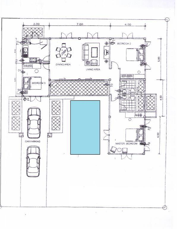 Floor plan with pool