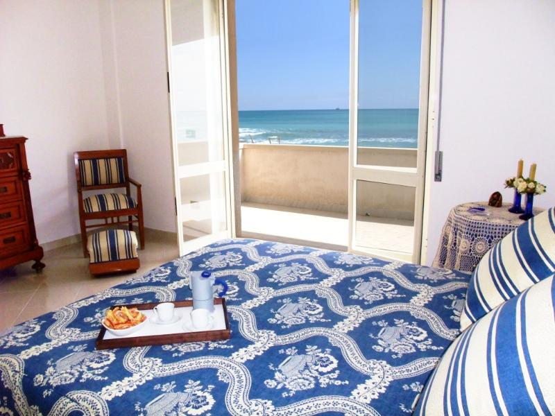 The beautiful master bedroom with seaview  tastefully decorated for extra comfort and elegance