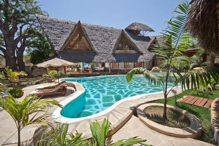Across pool