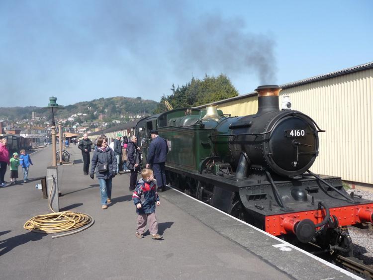 Steam locomotive at Minehead - West Somerset Railway - Exmoor