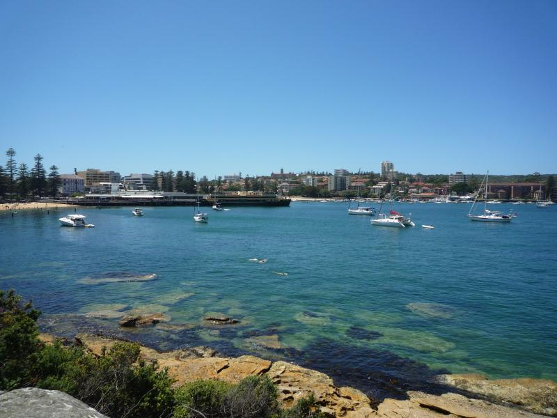 Harbour side, great area for safe swimming without the surf!