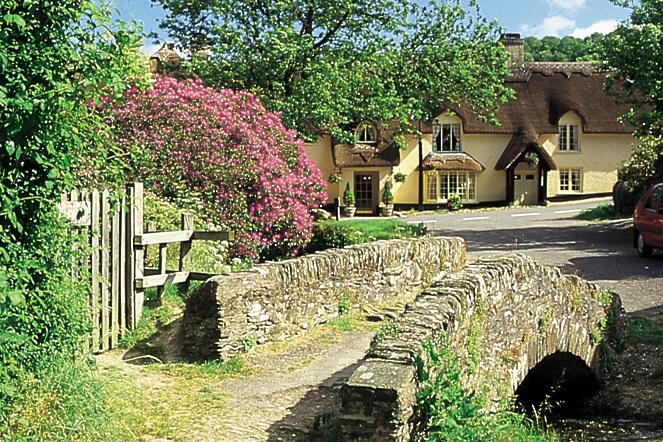 A picturesque village on Exmoor