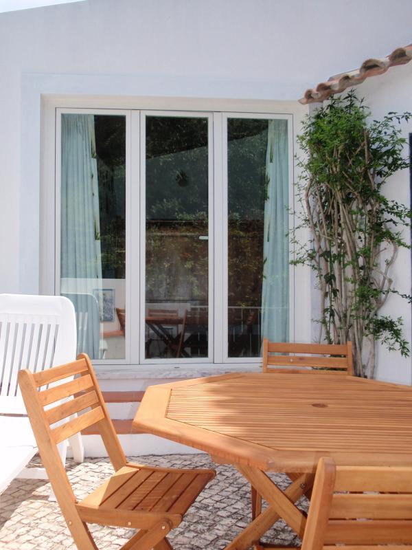 Bedroom patio doors