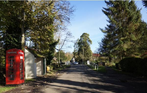 The main road into Damerham where your relaxing holiday will start.