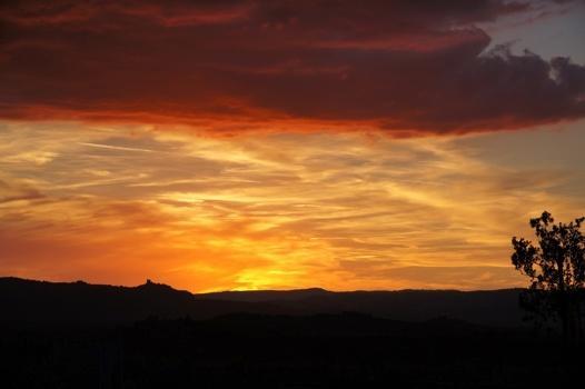 il tramonto Toscano visto da Chiancianello