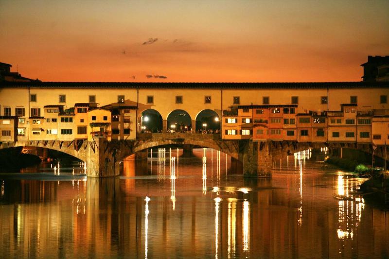 The Ponte Vecchio, a short stroll away