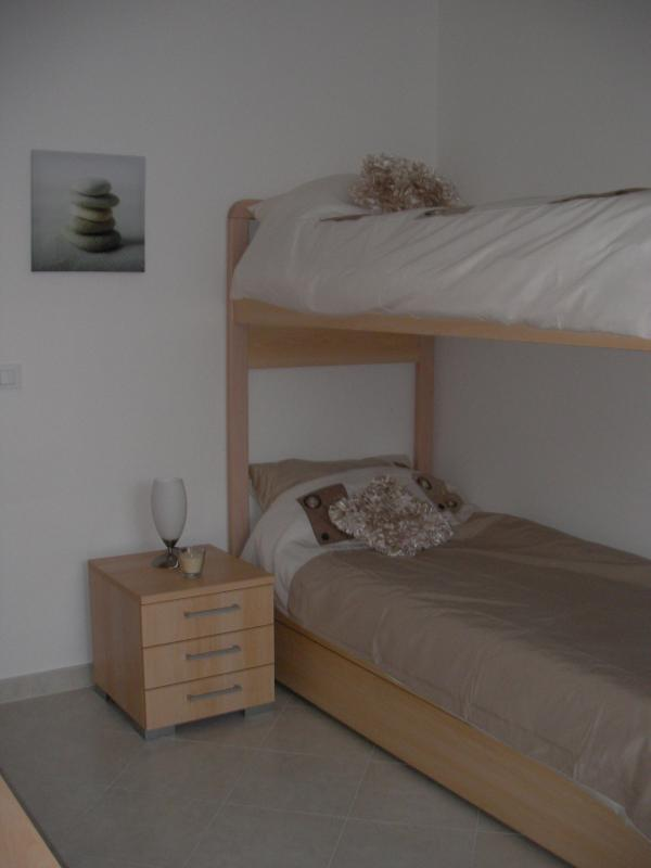 Second Bedroom with large bunk beds