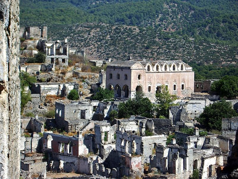 picture of the empty houses left by the greeks from early nineteen hundreds great views