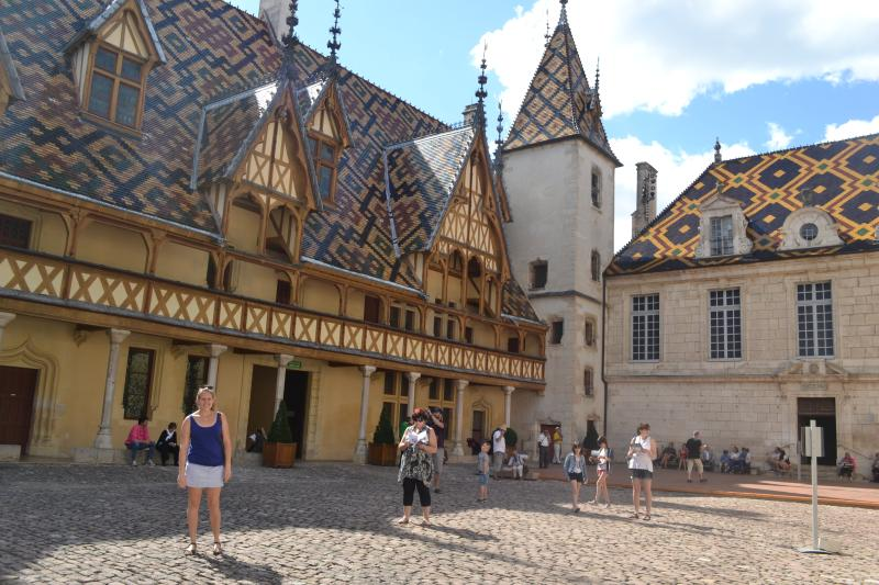 The Hospices de Beaune is the famous landmark in the town - a must-see!