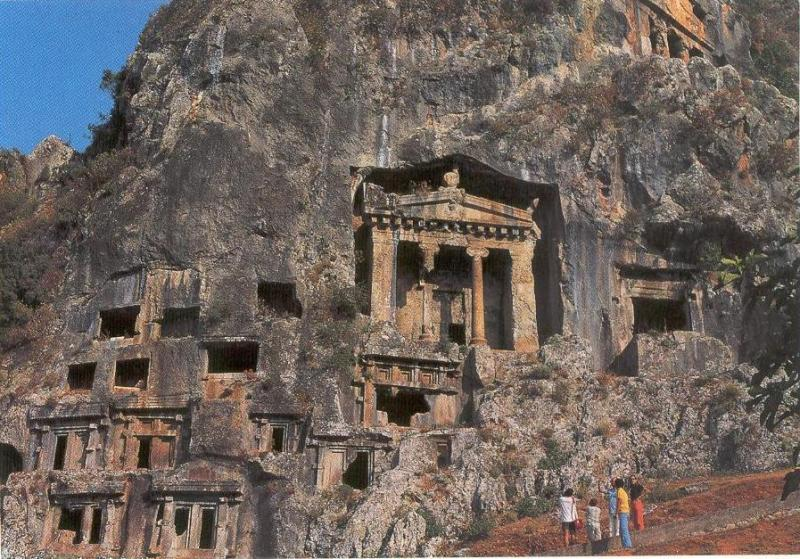 Lycian Rock Tombs in Fethiye Town