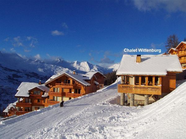 View of chalet from piste