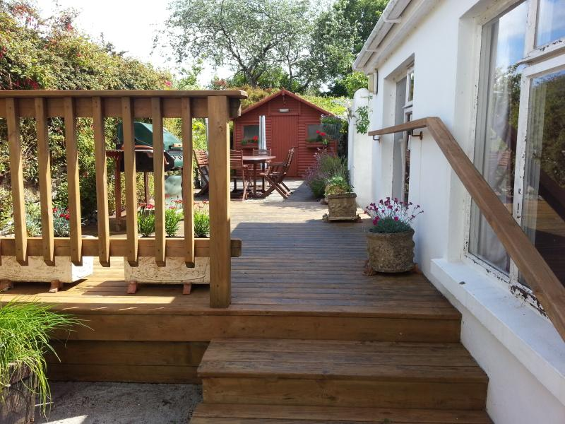 Rear terrace and decking