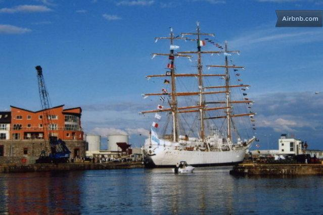 Tall ship visited Galway Harbour a number of years ago - What a view from Ce na Mara apts.