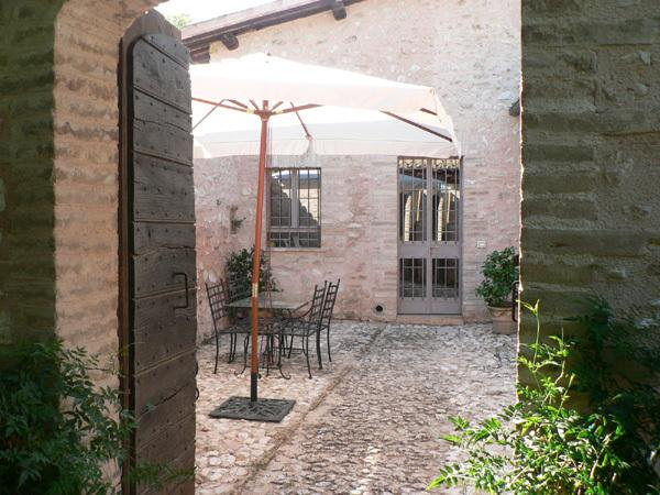 1st entrance from a cobbled private courtyard