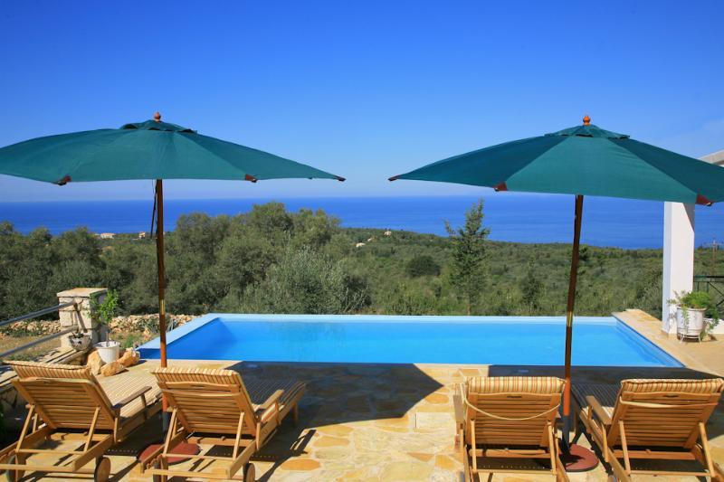 Private infinity pool with panoramic sea views