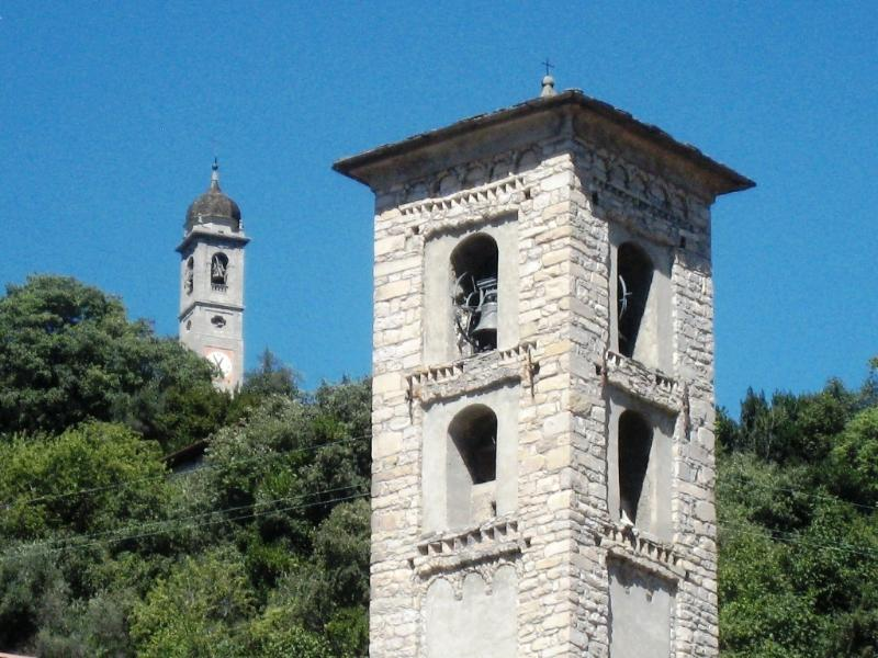 Belltowers of Sant Agata and Madonna del Soccorso (behind)