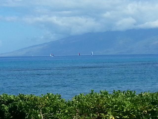 A view of Molokai from our condo