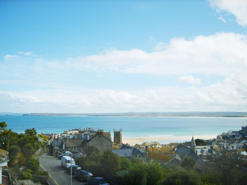 The View from Carrack Dhu Maisonette over St.Ives town and Bay