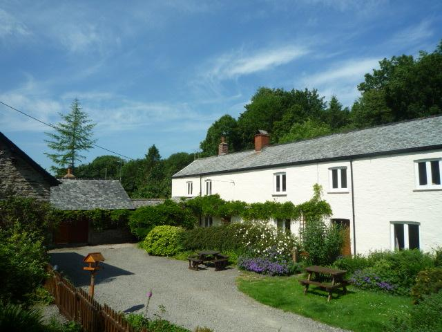 The C16th Farmhouse, originally a Devon longhouse, as seen from the courtyard