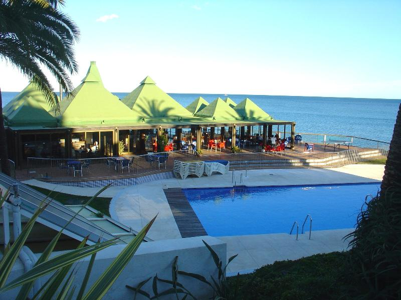 Swimming pool and sea view