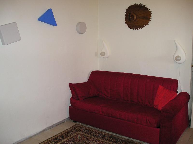 sofa bed in the studio