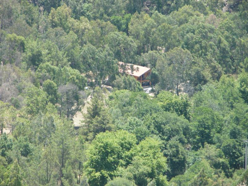Located on the banks of a river in 16,000m of forest garden