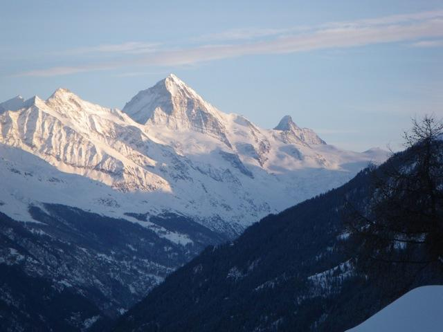 View of Dent Blanche & Matterhorn from the living room & all bedrooms