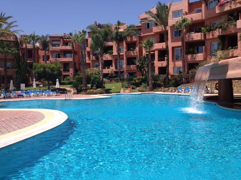 fab pool set in gardens with waterfalls plenty of shade sun lounges showers and free wi fi
