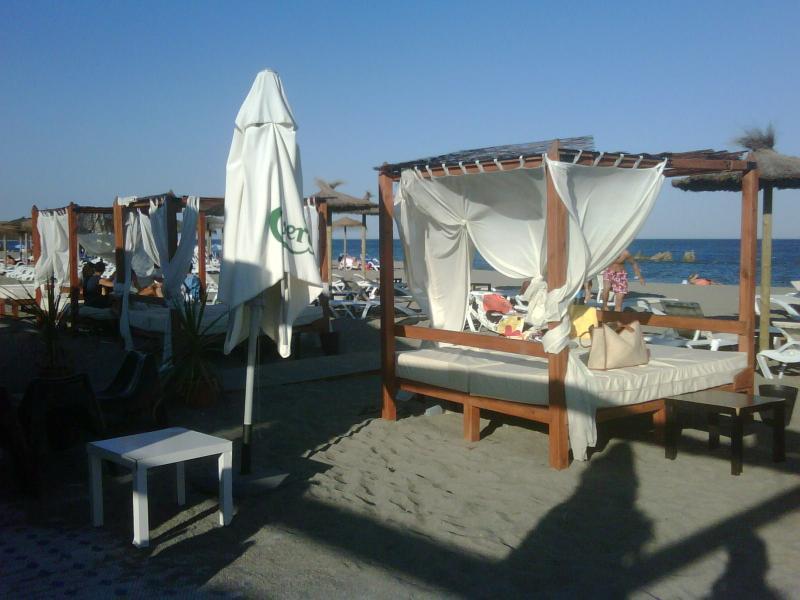Chiringuito or Lounge bar at the beach