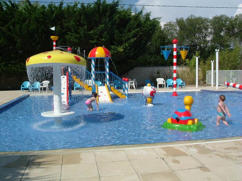 Toddler water play area open in July & August. Ideal for little ones to play safely  .