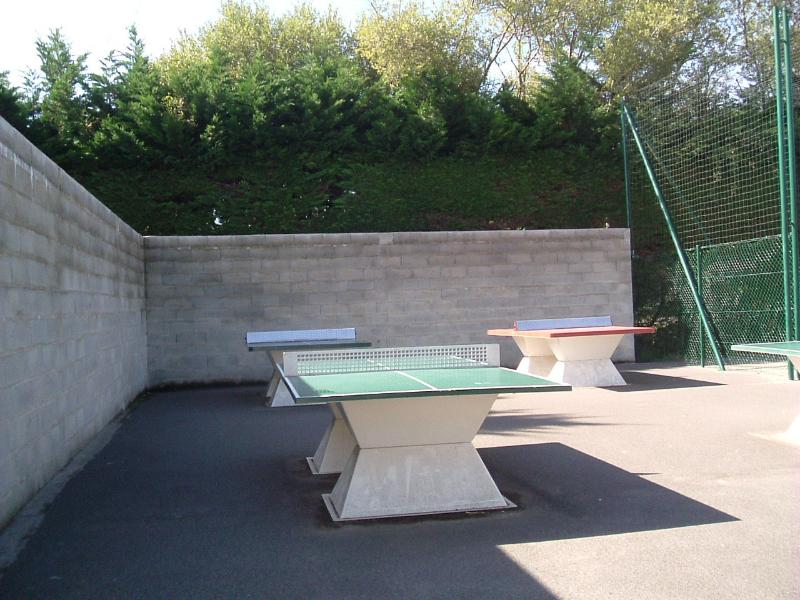 Table tennis. A group of 4 tables with nets. Free to use, bring own bats & balls.