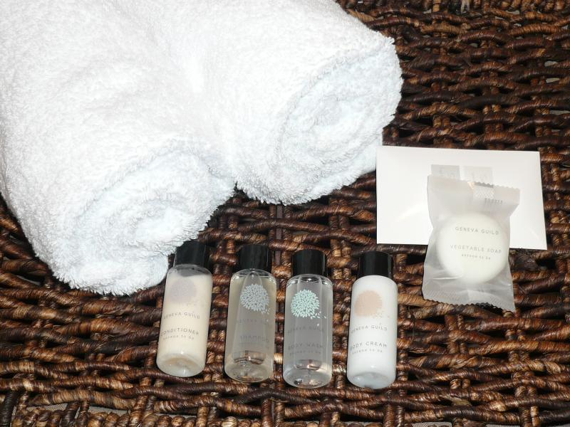 Linen, towels and toiletries included