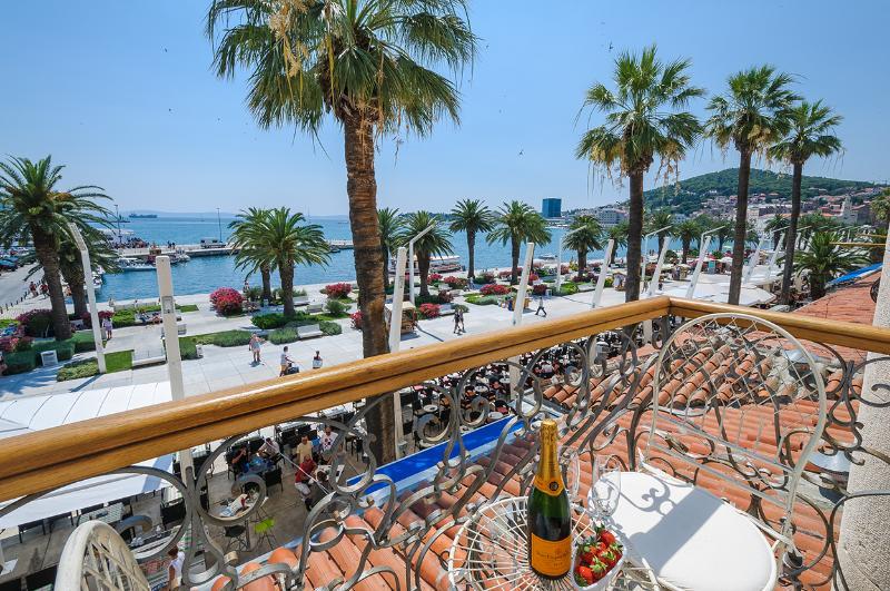 Breathtaking sea and promenade views from beautiful balcony