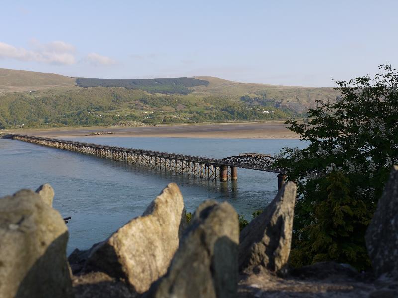 Beautiful view of Barmouth Bridge