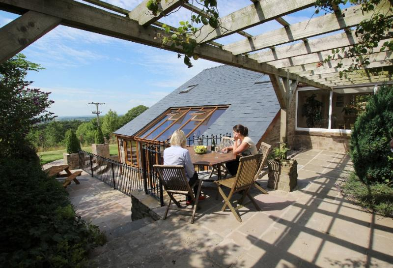 View from the kitchen terrace across the countryside, an ideal spot to relax and enjoy the view