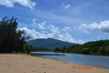 View of the Mameyes River that connects to beach